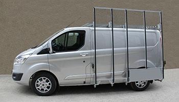 Pupitre porte verre et galerie sur Ford Custom
